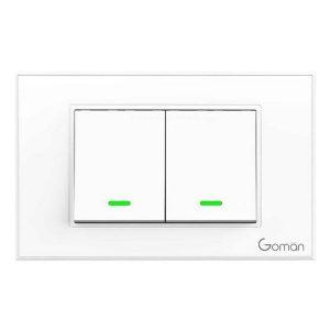 Công tắc cổ điển 2 nút goman kết nối wifi