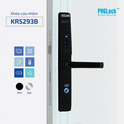 Khóa Điện Tử PHGLOCK KR5293-B (Đen)