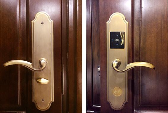 Hình ảnh thực tế khóa điện tử khách sạn PHGLock RF2012A