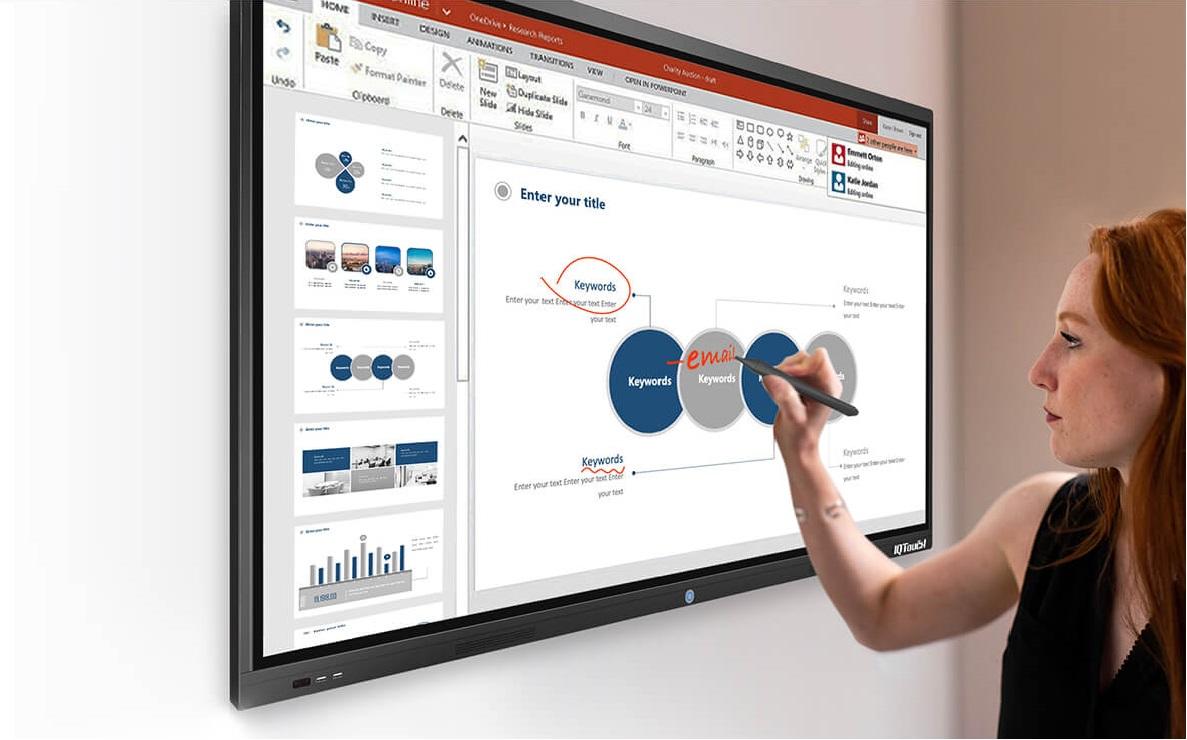 IQ Touch T1000 với độ tương tác cao chính xác
